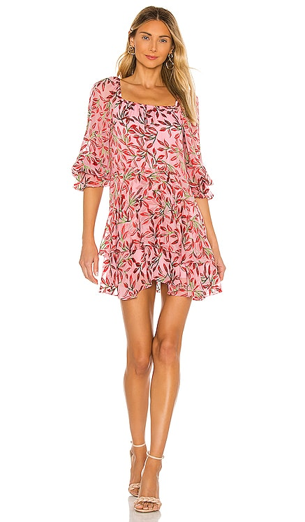 Debra Square Neck Skirt Tunic Dress Alice + Olivia $485 NEW ARRIVAL