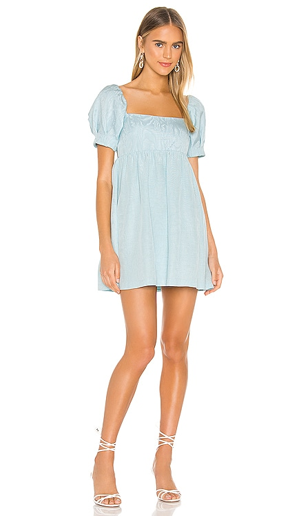 Bauery Puff Sleeve Babydoll Dress Alice + Olivia $375 NEW