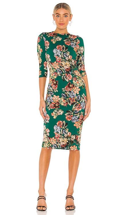 Delora Fitted Mock Neck Dress Alice + Olivia $350 NEW