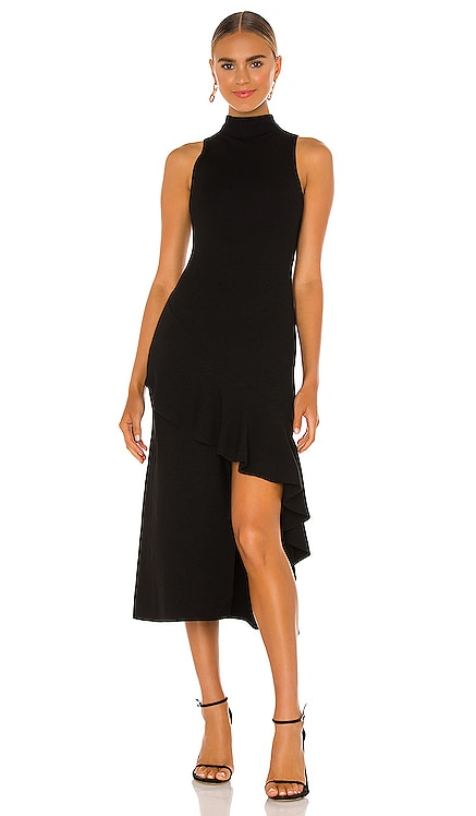 Angelia Double Knit Ruffle Dress Alice + Olivia $440 NEW
