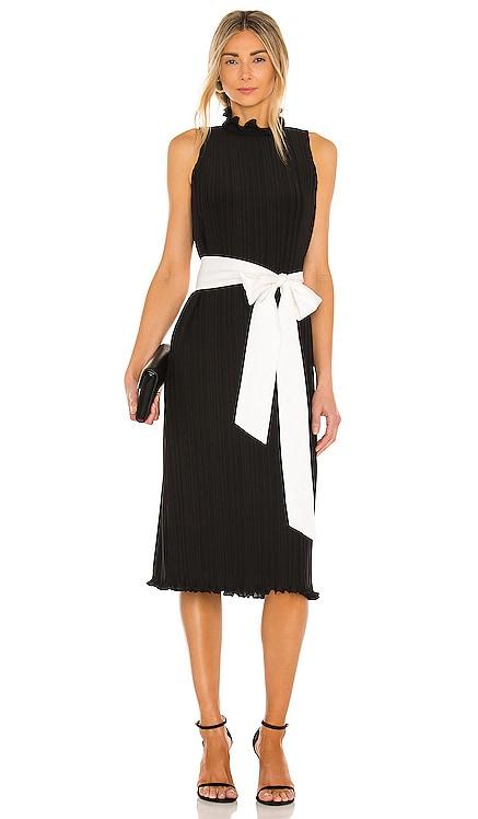 Shayna Pleated Dress With Tie Belt Alice + Olivia $440 BEST SELLER