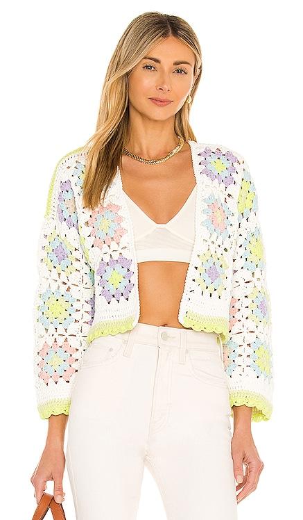 Anderson Crop Boxy Crochet Cardigan Alice + Olivia $495