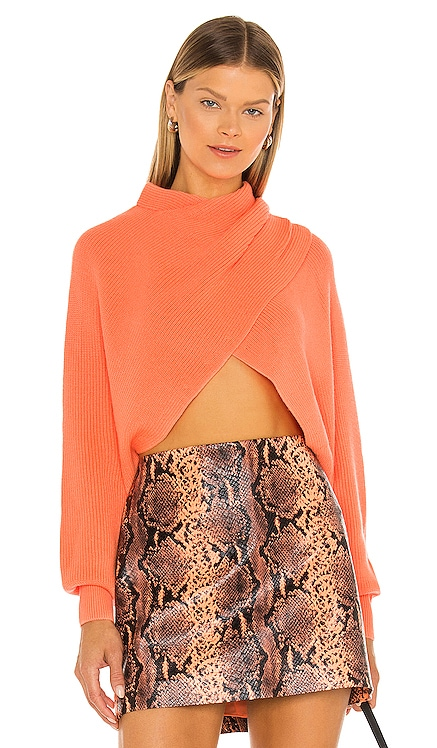 Mora Twist Cropped Long Sleeve Pullover Alice + Olivia $330
