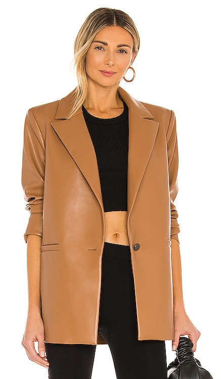 Dunn Vegan Leather Blazer Alice + Olivia $440