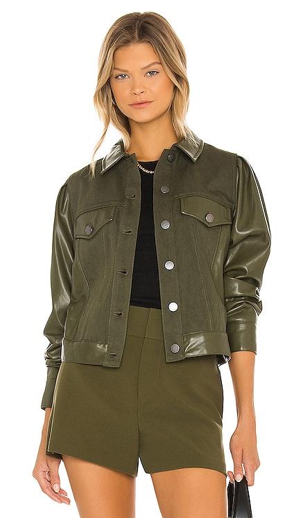 Renee Vegan Leather Jacket Alice + Olivia $395