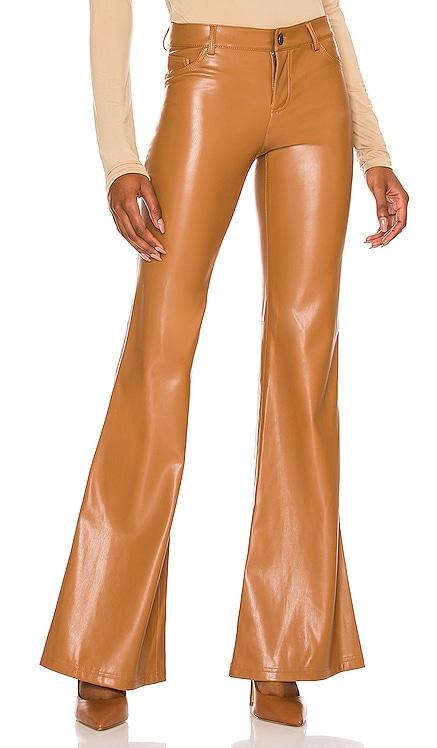 Marshall Vegan Leather Crop Bell Pant Alice + Olivia $295 NEW