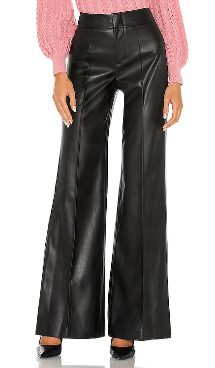 Dylan Vegan Leather High Waist Wide Leg Pant Alice + Olivia $295