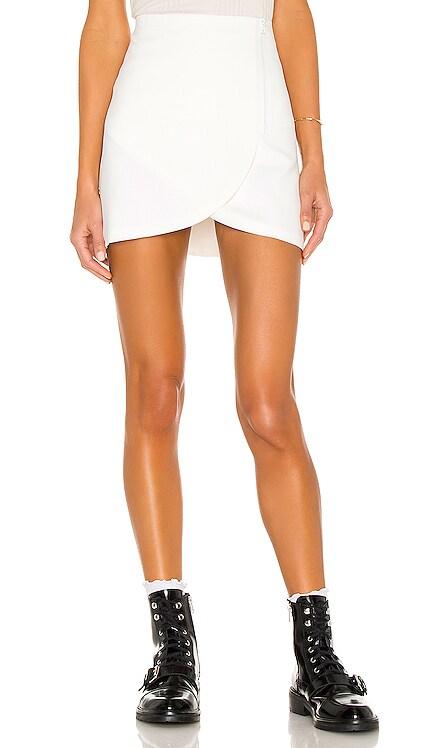 Lennon Side Zip Overlap Mini Skirt Alice + Olivia $225
