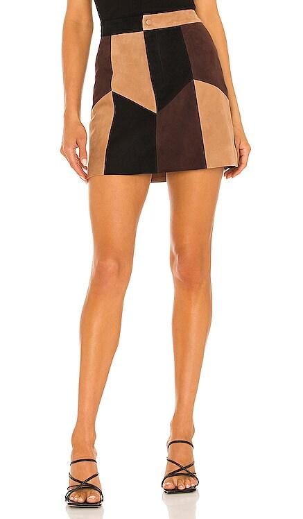 Georgine Suede Mini Skirt Alice + Olivia $795