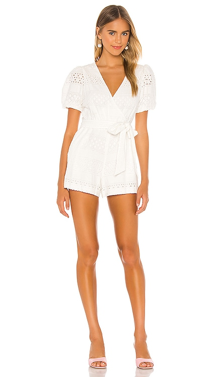 Paulina Puff Sleeve Romper Alice + Olivia $350 BEST SELLER
