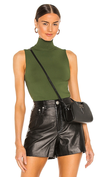 Darina Mock Neck Fitted Tank Alice + Olivia $265 NEW