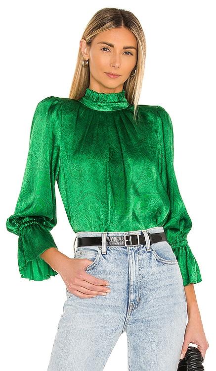 Launa Blouson Sleeve Blouse Alice + Olivia $295 NEW