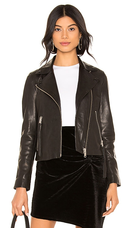 Dalby Leather Biker Jacket ALLSAINTS $459