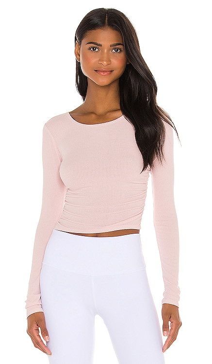 Gather Long Sleeve Top alo $64 NEW