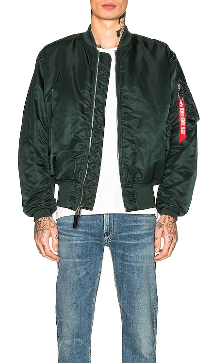MA-1 BLOOD CHIT 자켓 ALPHA INDUSTRIES $160