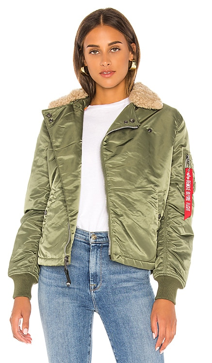 B-15 Straight Hem Mod Jacket With Fur ALPHA INDUSTRIES $65