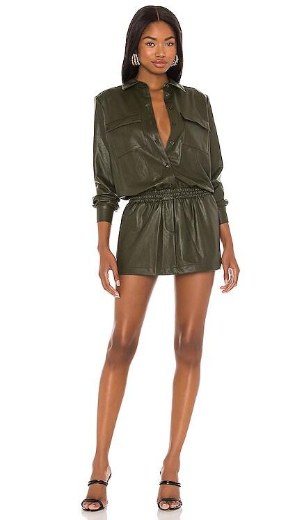 X REVOLVE Leather Fritzi Dress Amanda Uprichard $264