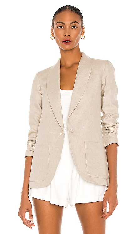 X REVOLVE Linen Shawl Blazer Amanda Uprichard $264 NEW