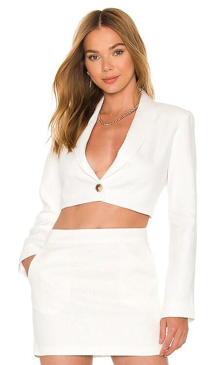 X REVOLVE Linen Pembroke Blazer Amanda Uprichard $253