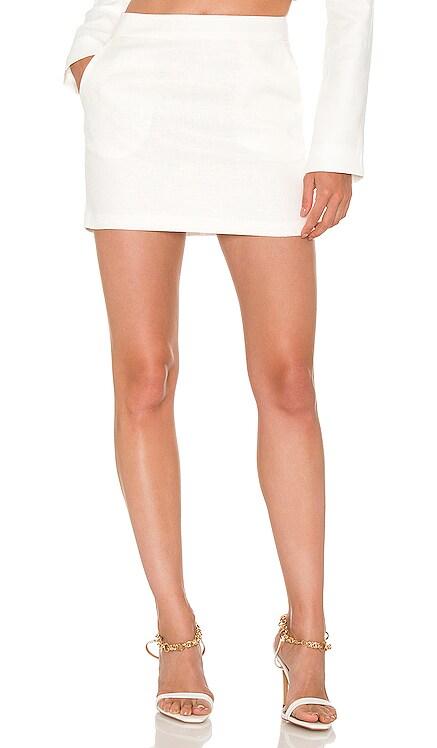 X REVOLVE Linen Pembroke Skirt Amanda Uprichard $172