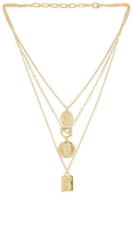 Layered Coin Necklace Amber Sceats $69 BEST SELLER