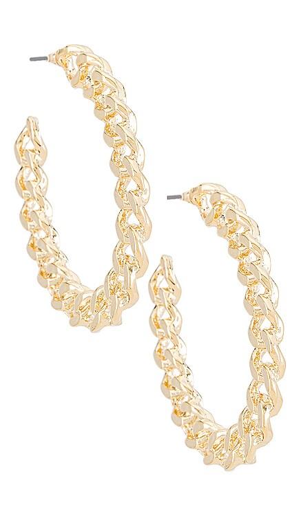 Chain Hoop Earring Amber Sceats $55