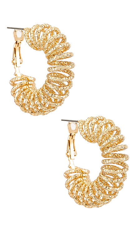 Textured Hoop Earring Amber Sceats $35