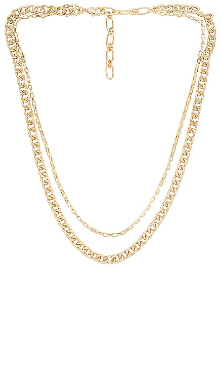 Layered Chain Necklace Amber Sceats $72 NEW