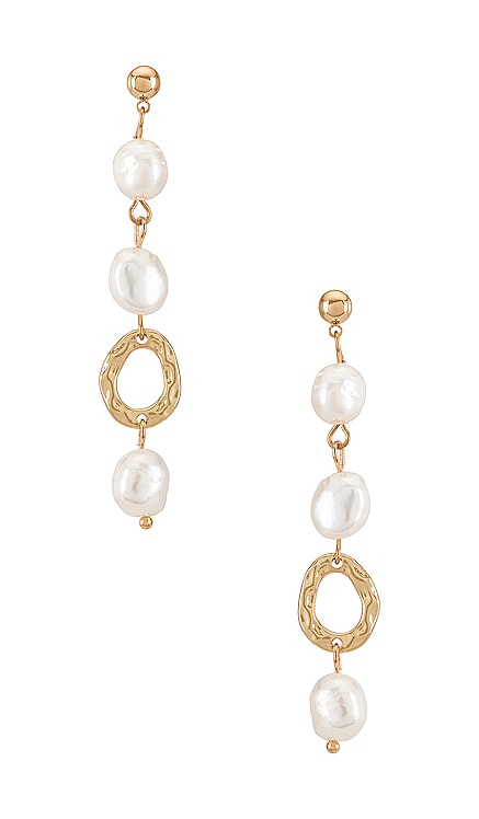 Pearl Drop Earring Amber Sceats $74 NEW