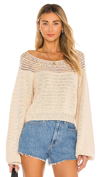 Stevie Long Sleeve Knit Sweater AMUSE SOCIETY $80