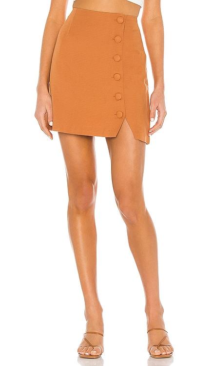 Mari Woven Mini Skirt AMUSE SOCIETY $44