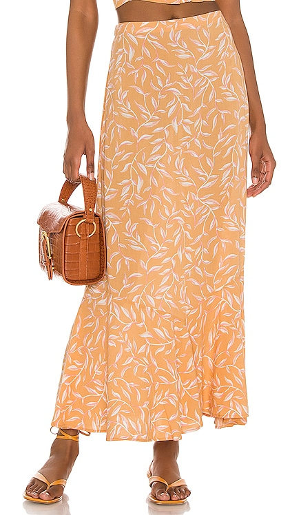 Reina Woven Maxi Skirt AMUSE SOCIETY $56 NEW