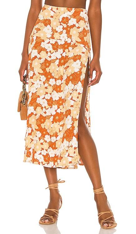 Alexander Woven Maxi Skirt AMUSE SOCIETY $58