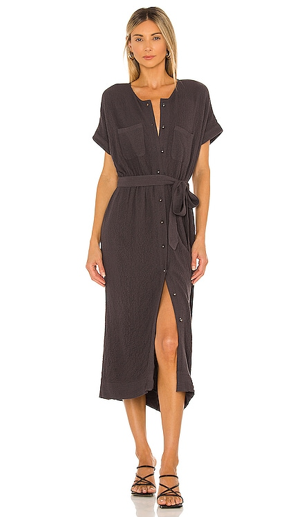 Monica Woven Midi Dress AMUSE SOCIETY $90 NEW