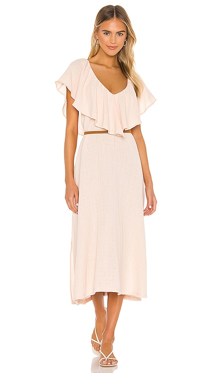 Brigitte Ruffle Midi Dress ANAAK $395
