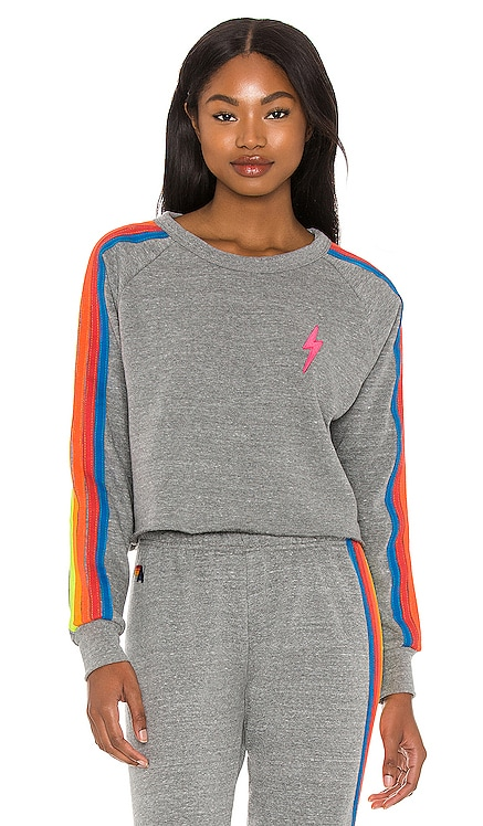 Bolt Cropped Classic Sweatshirt Aviator Nation $166 NEW