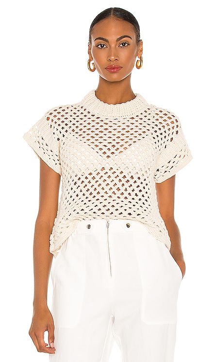 Ami Cropped Net Knit Top APIECE APART $425 NEW