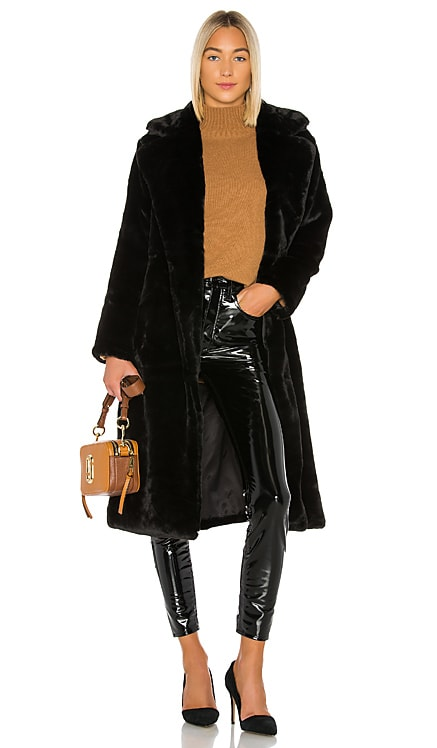 Mona Faux Fur Coat Apparis $210 Sustainable