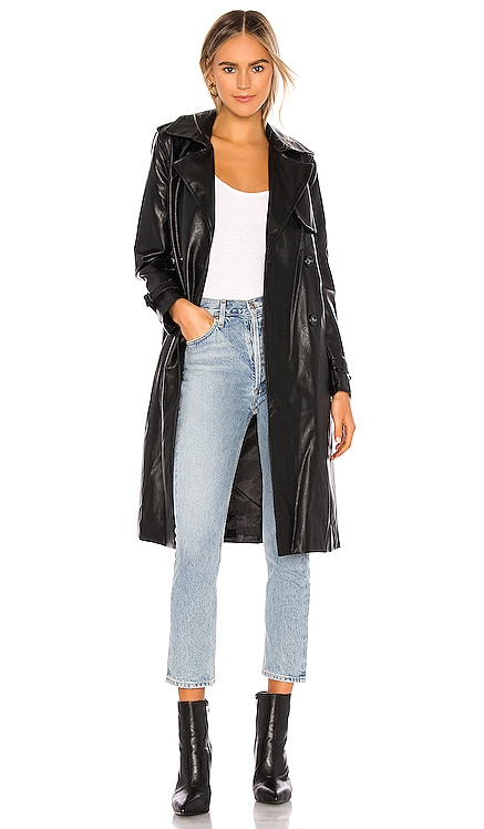 Lucia Vegan Leather Trench Apparis $380