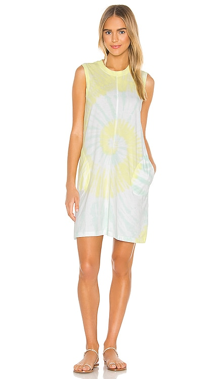 Classic Jersey Sleeveless Tie Dye Dress ATM Anthony Thomas Melillo $195