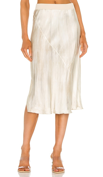 Silk Water Color Midi Skirt ATM Anthony Thomas Melillo $350 NEW