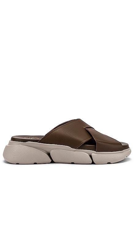 Sovereto Khaki Brown & Sand Vacchetta Sandal ATP Atelier $370