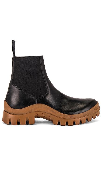 Catania Black & Terra Vacchetta Boot ATP Atelier $595 NEW