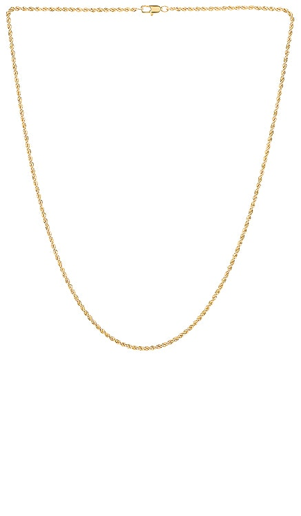 Lola Thin French Rope Choker AUREUM $108