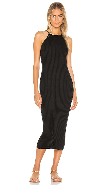 Rib Halter Midi Dress Autumn Cashmere $187