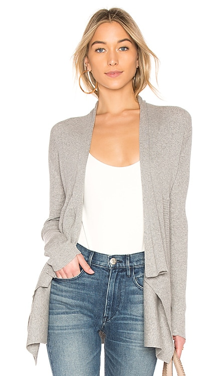 Ribbed Drape Cardigan Autumn Cashmere $198 BEST SELLER