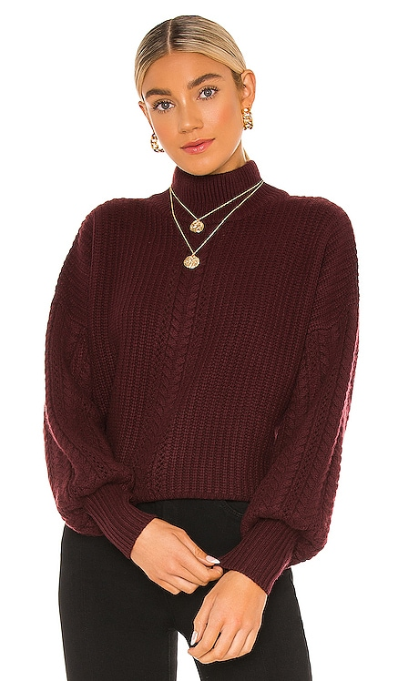 Cable Sleeve Mock Sweater Autumn Cashmere $352 NEW