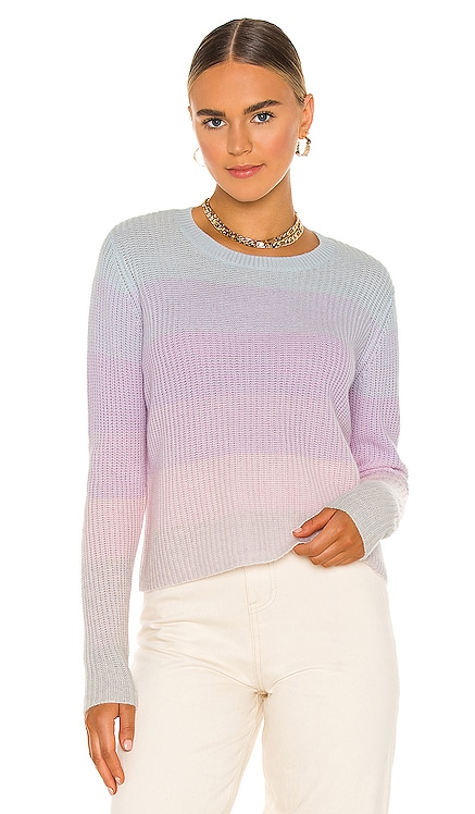 Shaker Ombre Stripe Crew Sweater Autumn Cashmere $320 NEW