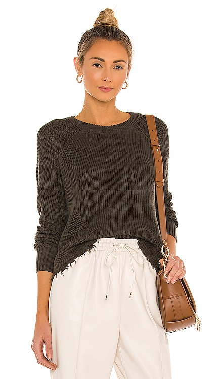 Distressed Scallop Shaker Sweater Autumn Cashmere $165