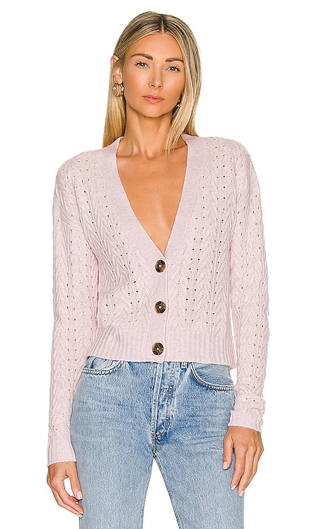 Cropped Cable V Neck Cardigan Autumn Cashmere $355